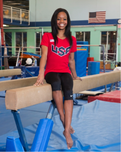 Gabrielle Douglas after hair criticism  (Source: CP Entertainment)