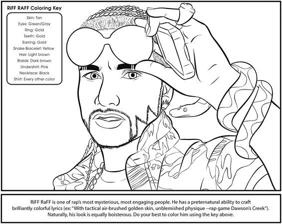Trill Rer Creates Hip Hop Coloring Book Nommo