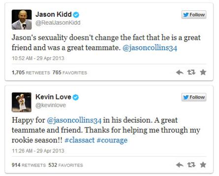 Twitter support from fellow NBA stars | Source: Twitter