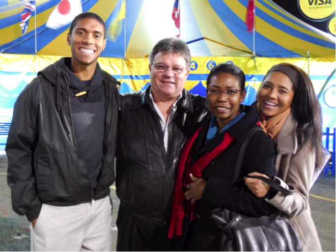 Anthony, his parents, and his younger sister