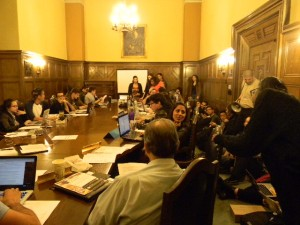 """Students and USAC Council members wait as the """"A Resolution"""" presentation is soon to begin./Amber Tidmore- Nommo Staff"""